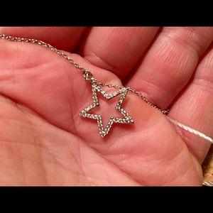 Kate Spade Scrunched Crystal Pave Star Bracelet
